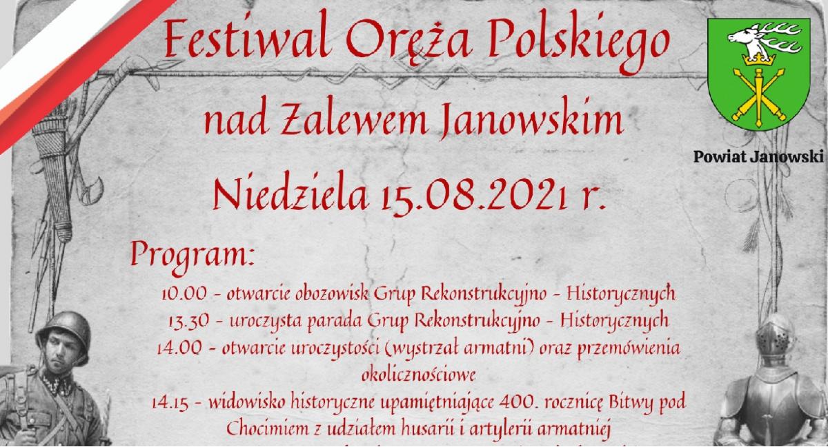 Festiwal Oręża Polskiego 15.08.2021r. - Powiat Janowski